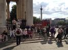 Group resting in Trafalgar Square