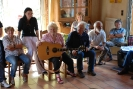Communal singing with Pat & Group in Vannes 2013