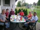 Enjoying a meal with our host families in Meschede 2013